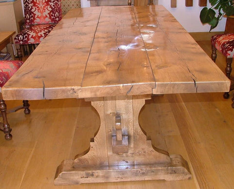 Lyre End Oak Table