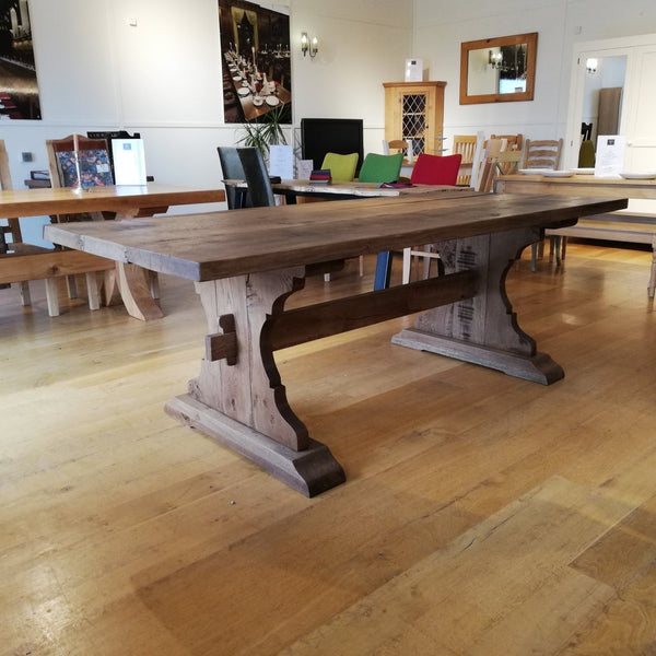 Lyre End Oak Table Side View