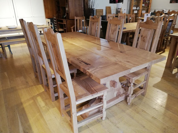 Lyre End Oak Table With handmade oak chairs