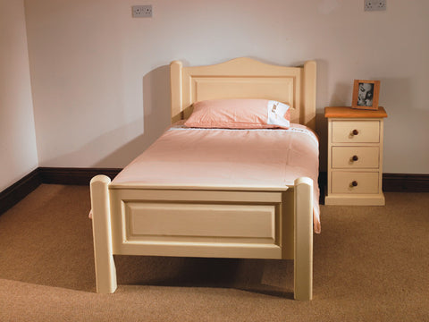 Painted single Pine Bed