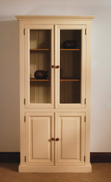 Glazed Bookcase Painted Pine