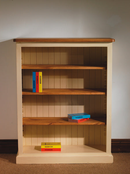 Bookcase painted adjustable shelves