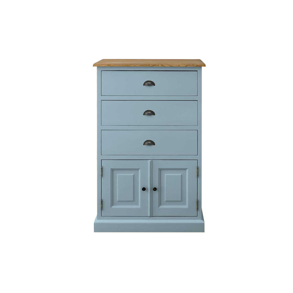 Mottisfont - 3 Drawer French Wellington Chest