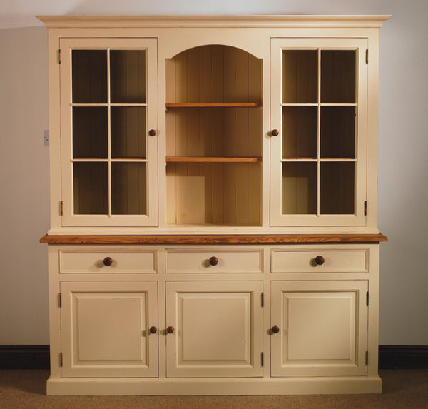 Painted glazed dresser oak tops