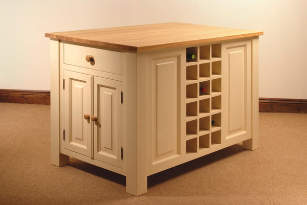 Kitchen Island Painted Cream Oak Top
