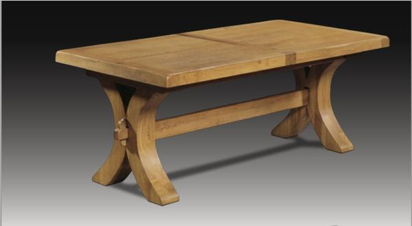 Moselle extending oak dining table cutout