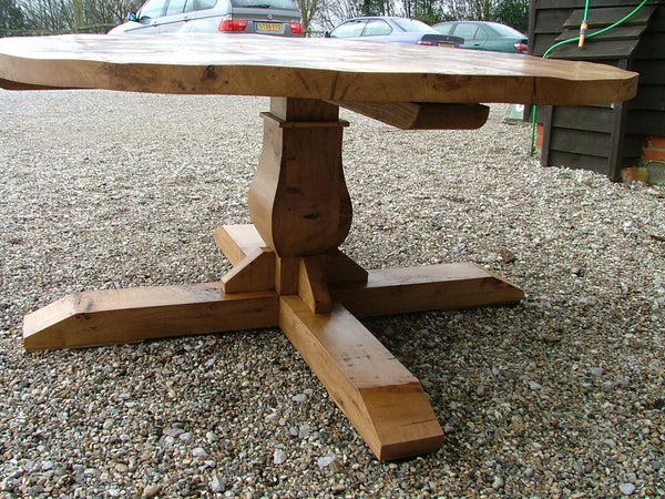 Sussex - Circular Oak Baluster Table