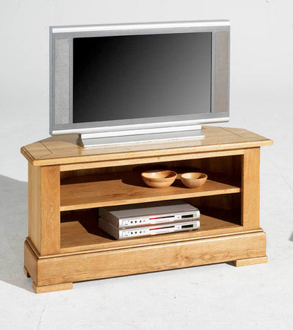 Normandy French Oak Open Corner TV Unit