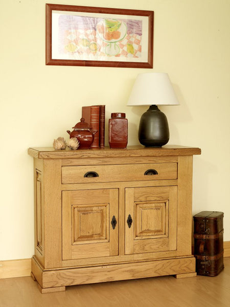 Normandy French Oak 2 Door 2 Drawer Hall Cabinet