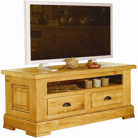 Normandy French Oak 2 Drawer TV Unit