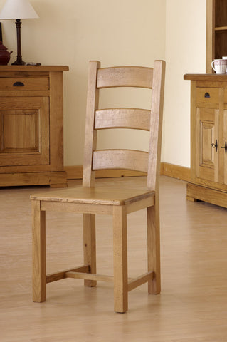 Normandy French Oak Farmhouse Chair With Different Seat Options