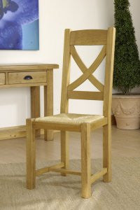 Normandy French Oak X Back Chairs