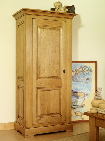 Normandy French Oak 1 Door Single Wardrobe