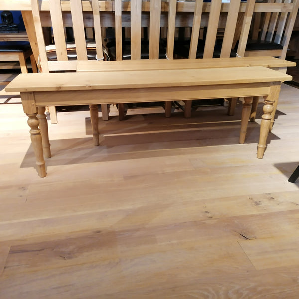 Handmade oak bench