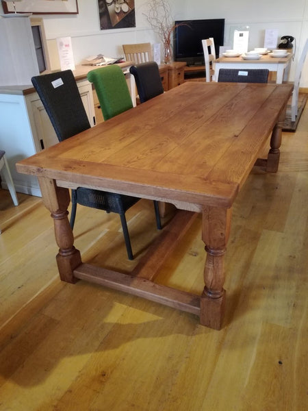 Oak Framed refectory Table Showroom