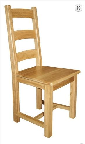 Oak Ladderback side chairs with wooden seat