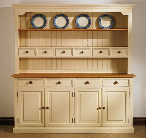 Welsh Dresser Painted Pine Oak Top