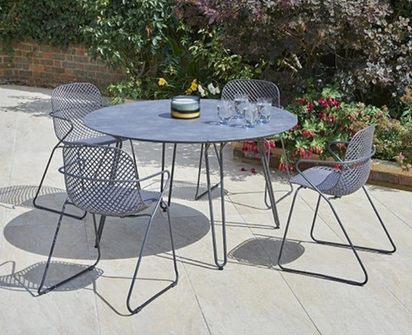 Romney outdoor steel stacking chairs