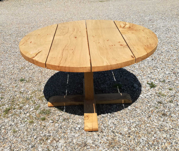 Outside Dining Furniture - Boarded Round Pillar Table