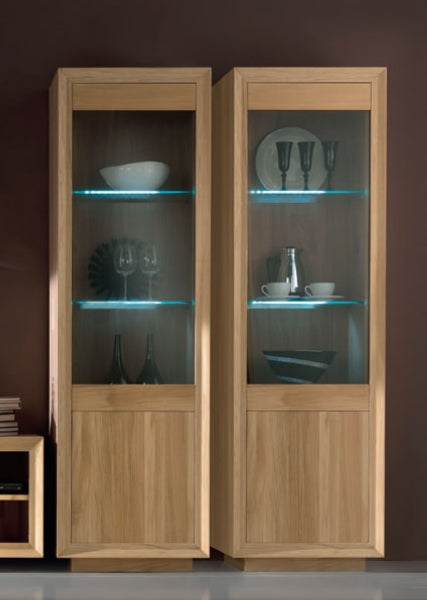 Tuscany Contemporary Sienna Glazed Display Cabinet