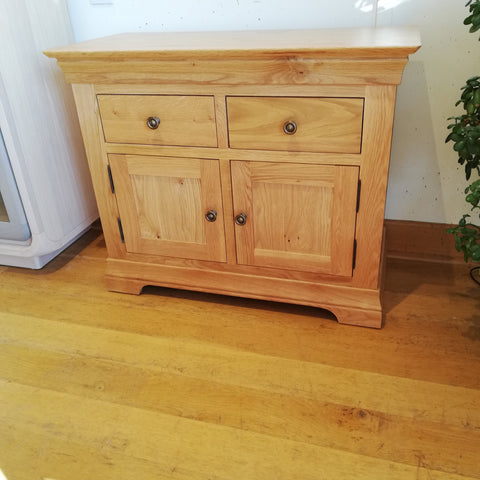 Small oak sideboard showroom display