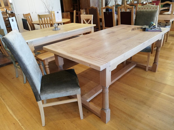 Sussex Fine Oak refectory Table Angle View