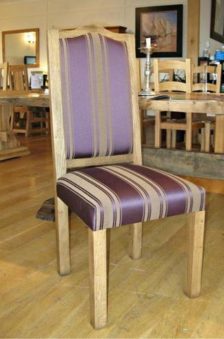 Swailes oak framed upholstered side chair