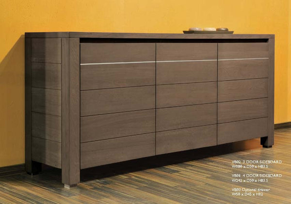 Tuscany Contemporary Vinci 3 Door Sideboard