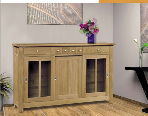 Harbour - Contemporary Oak Part Glazed Sideboard