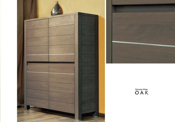 Tuscany Contemporary Vinci Tall 4 Door Sideboard