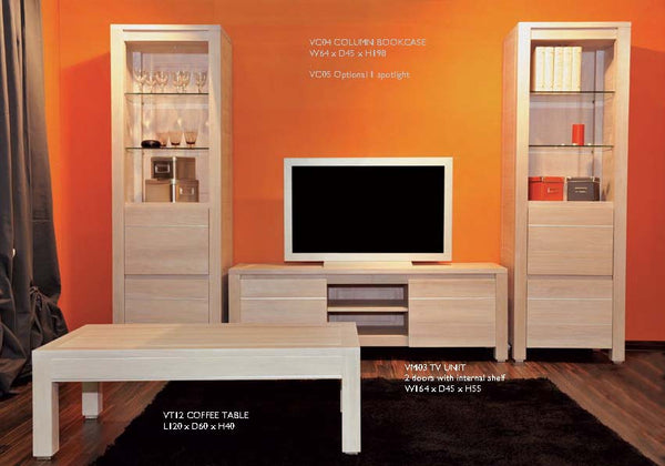 Tuscany Contemporary Vinci TV Unit With 2 Cupboards And An Open Niche