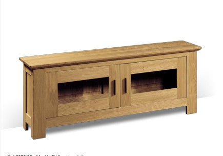 Tuscany - Contemporary TV Cabinet With 2 Glazed Doors