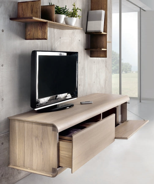 Tuscany Contemporary Curve Wall Mounted TV Cabinet
