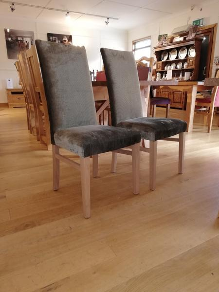 Tillingham fully upholstered oak side chairs