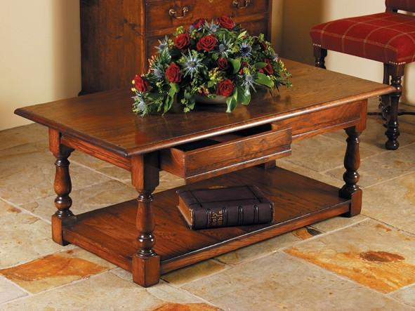 Traditional Oak 2 Drawer Coffee Table