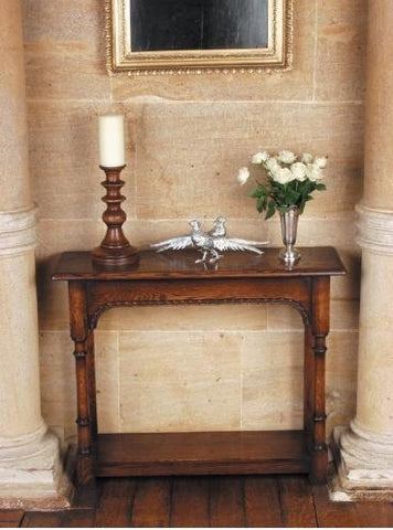 Traditional Oak Console Table