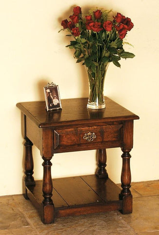 Traditional Oak Lamp Table