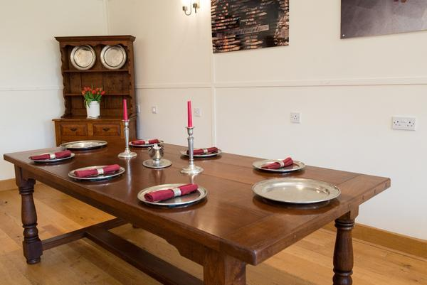 Traditional oak refectory dining table Top