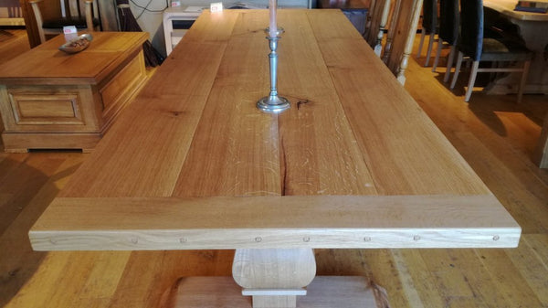 Twin Baluster Oak Table Top