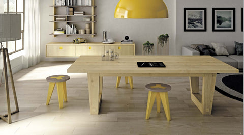 Tuscany Contemporary U Leg Extending Dining Table