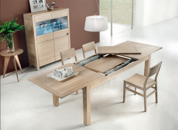 Tuscany Contemporary Vinci Centrally Extending Table With 2 x 40cm Leaves