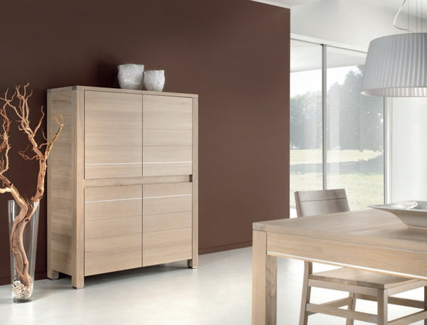 Tall 4 Door Oak Sideboard