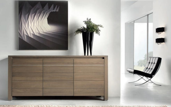 Contemporary 3 door sideboard