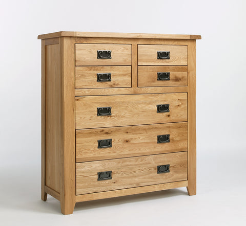 Westfield Reclaimed Oak 4 Over 3 Drawer Chest