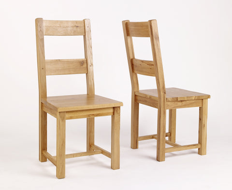 Westfield Reclaimed Oak Timber Dining Chair - Pair