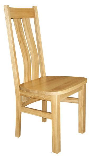 Westfield oak side chair with wooden seat