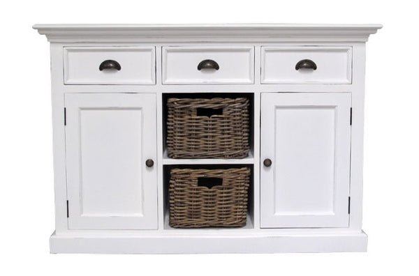 Painted sideboard Rattan Baskets