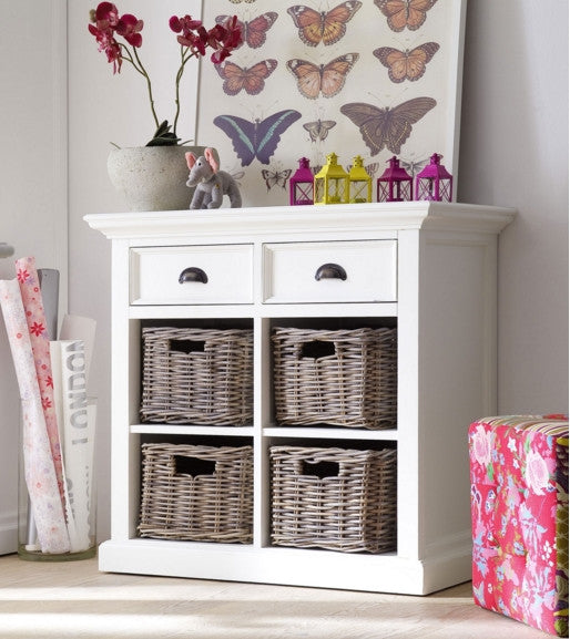 Small Sideboard with rattan baskets