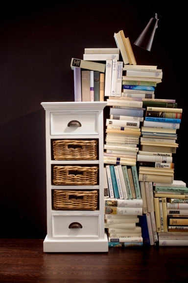 Cabinet with Rattan Baskets