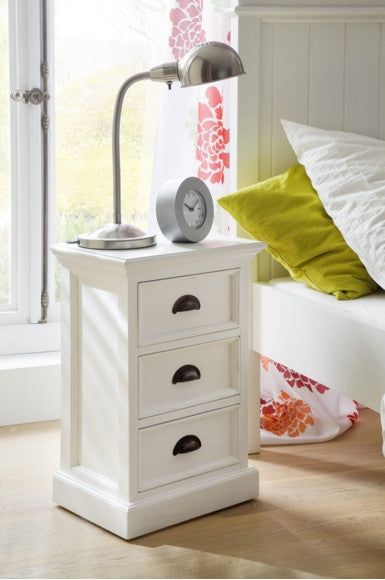 White Painted Bedside Cabinet